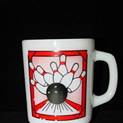 Anchor Hocking Milk Glass Bowling Mug