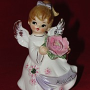 August Angel Ceramic Birth Month Figurine Vintage