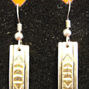 M. M. Rogers Native American Sterling Silver and 14K Gold Earrings