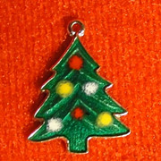 1960's Vintage Sterling and Enamel Christmas Tree Charm