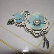 Blue Posy Pin/Brooch - Free Shipping