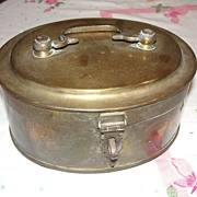 Oval Brass Hinged Box