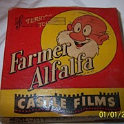 SALE Castle Film 16MM #424 Farmer Alfalfa Old Dog Tray