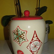 """Things go better with Coke"" Snowflake Cookie Jar"