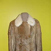 Wascally Wabbit 3/4 Length 70's Rabbit Fur Coat