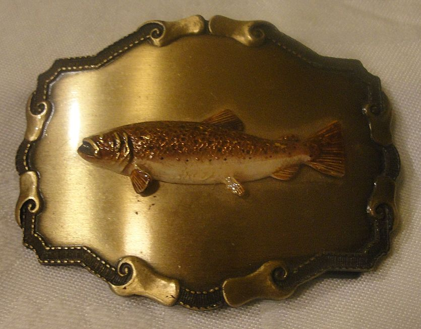 For the Fisherman &quot;Raintree&quot; Belt Buckle - Free Shipping