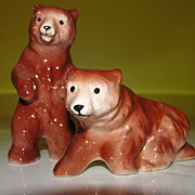 Little Brown Bear Salt and Pepper Shakers