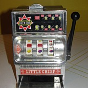 Waco ''Little Chief' Slot Machine Bank