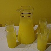Frosty Lemon-ade Pitcher and Glasses