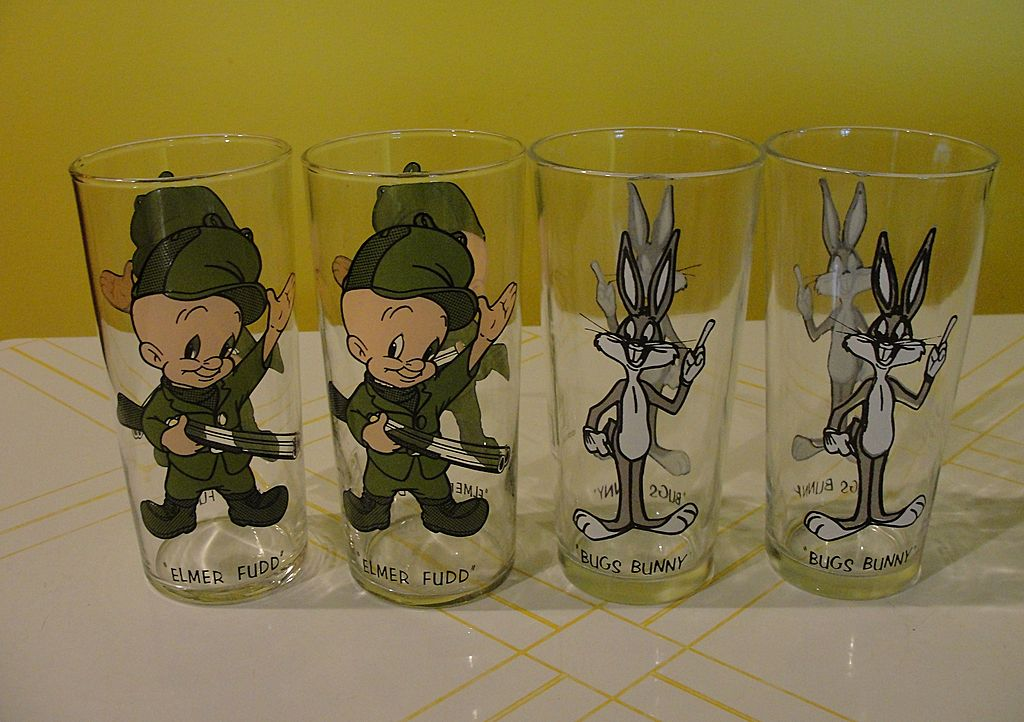 Bugs Bunny or Elmer Fudd 1973 Pepsi Collector Glasses
