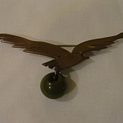 Temming Copper ''Bird in Flight'' Pin - Free shipping