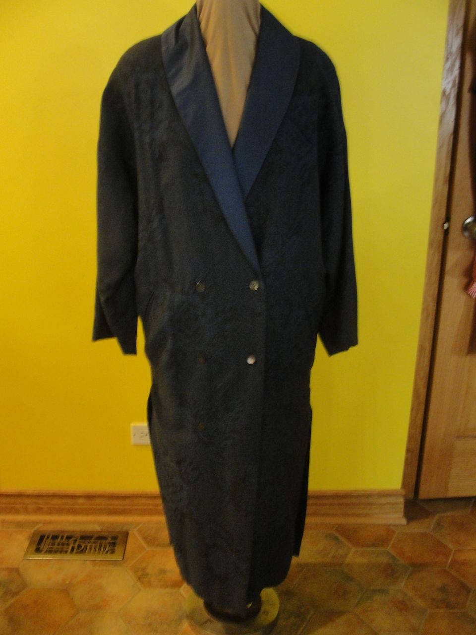 Big Blue 80's Boxy shoulder Coat