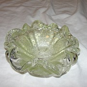 Flowery Glass Candy Dish