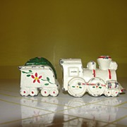 All Aboard Metal train Salt and Pepper Shakers