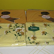 Wamsutta and Fieldcrest Solid Gold and Yellow Flower Twin Top Sheets
