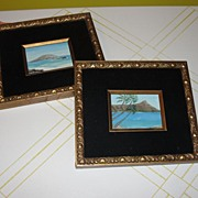 A Trip to the Tropics Oils in Gold Frames