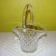 A Tisket A Clear Glass Basket
