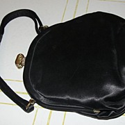 Black Satin Evening Bag with bow