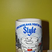 Chicagoland ''You've got Style'' Old Style 1981 Ceramarte Stein