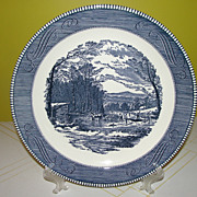 Royal China Currier and Ives ''Getting Ice'' Round 12'' Chop Plate