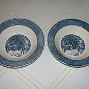 Royal China Currier & Ives ''Home sweet Home 10'' Round vegetable Bowl