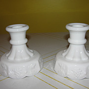 Westmoreland Paneled grape Single Lite Candleholders