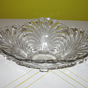 "Cambridge Glass ""Capri"" Oval Flared Edge Bowl with Handles"