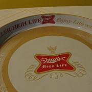 """Enjoy Life with Miller High Life'' Beer Tray"