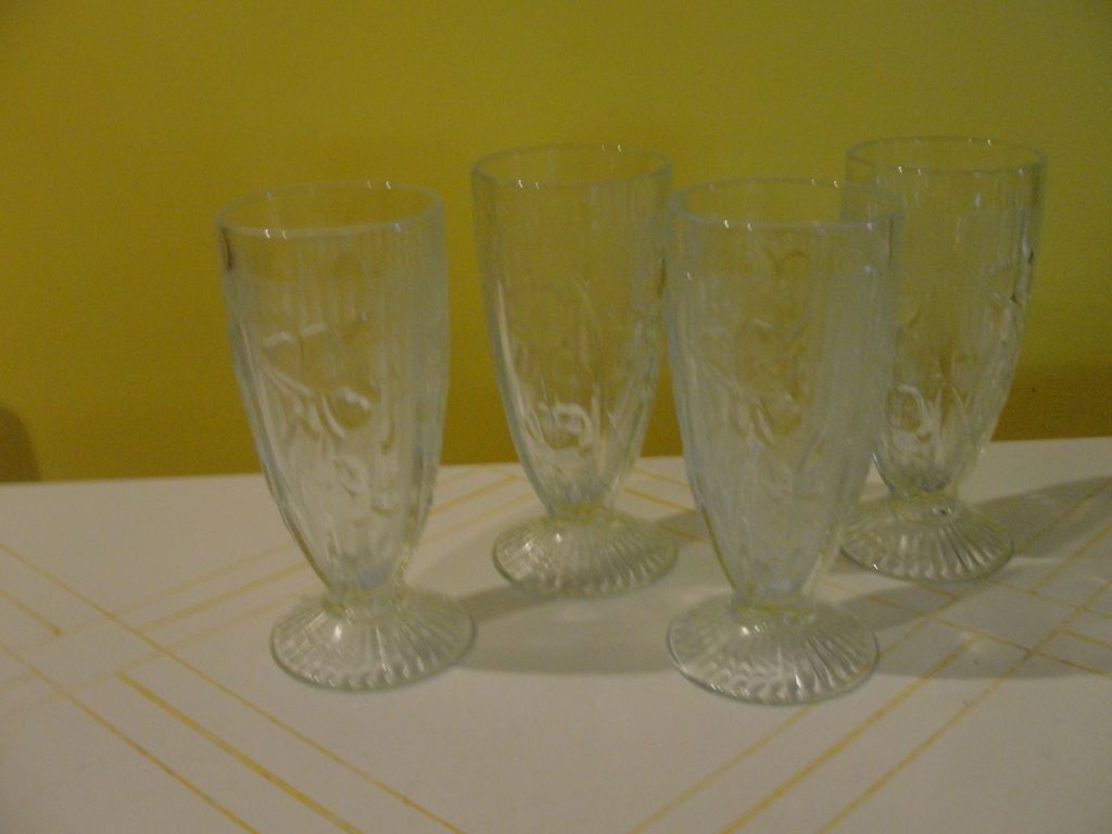 Iris and Herringbone Iced Tea Glasses