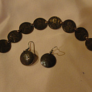 Pennies From Heaven Bracelet and J-hook Earrings - Free Shipping