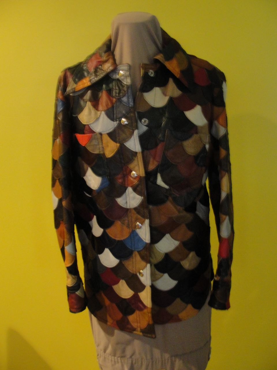 Coat of Many Colors 70' Patchwork Leather Jacket