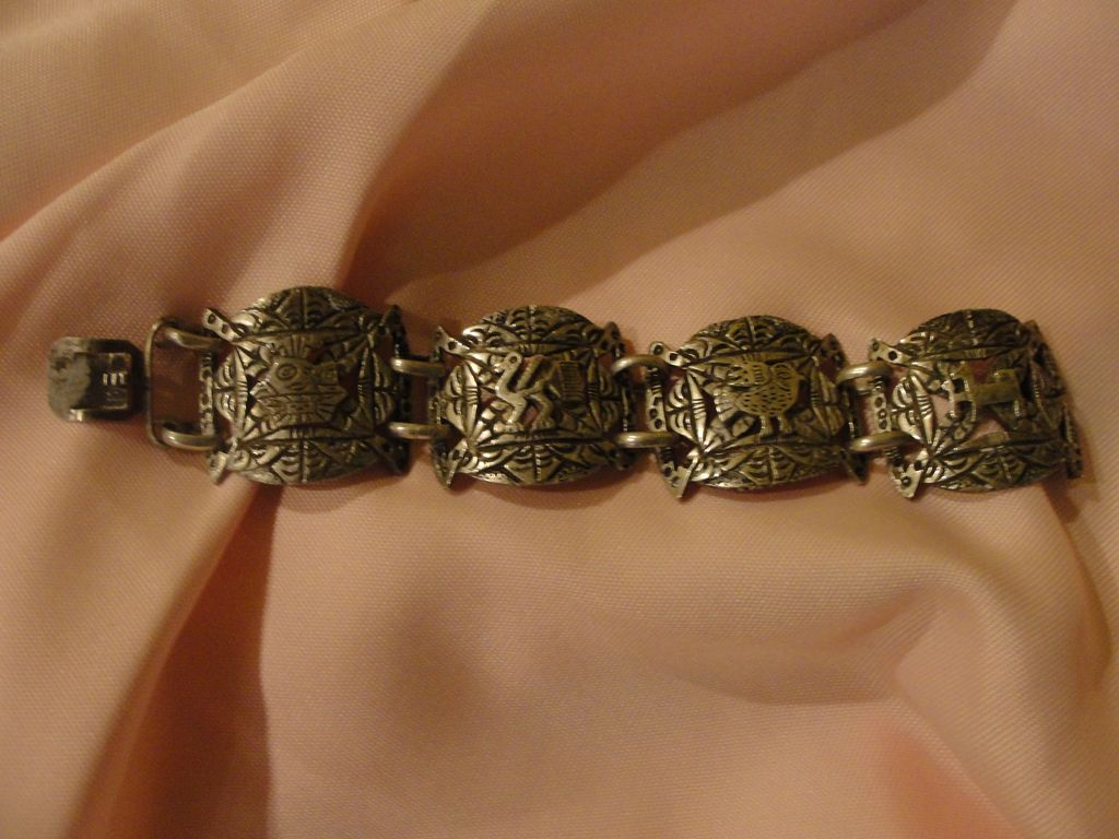 Peruvian 900 silver bracelet free shipping from for Best place to sell gold jewelry in chicago