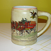 Budweiser Championship Clydesdale 1980 Stein CS-19