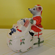 Mount Clemons Pottery Christmas Mouse Bank