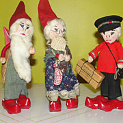 Danish Santa, Mrs Clause and Mailman Figures