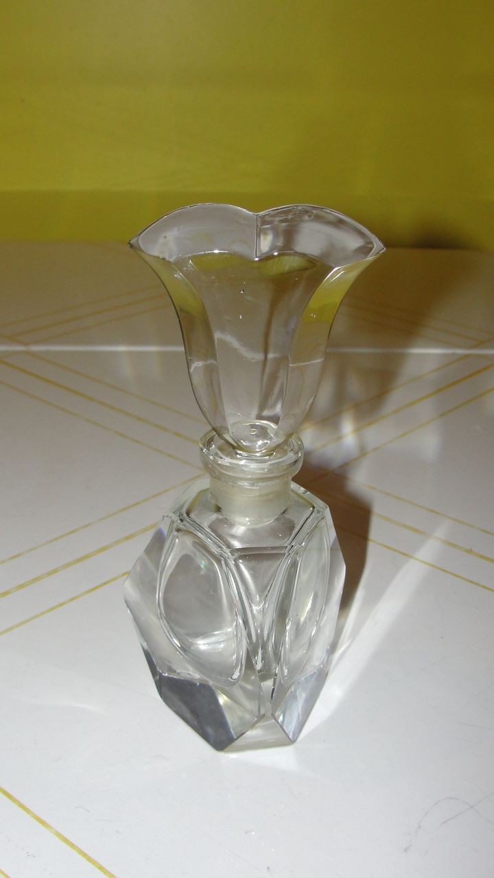 Tulip Topped Perfume Bottle