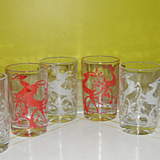 Graceful Gazelle Federal Glass Juice Glasses