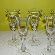 Cambridge Glass Regency Wine Glass Harp Stem #3575