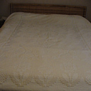 Lucy and Ricky Twin Size Chenille Bedspread/cover