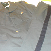 Man's Army Class A Army Green Jacket with Trousers