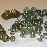 That's a lot of Brass Draw/door Pulls Knobs a Plenty