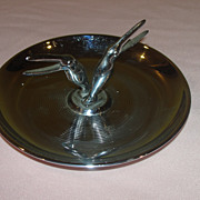 Mid Century Chrome Pincherette Bird Ashtray