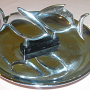 One Fish, twp Fish Hamilton Chrome Pincherette Ashtray