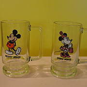 Walt Disney productions Mickey and Minnie Mouse Steins/mugs