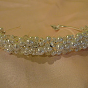 Faux Pearl and Crystal Headband