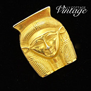 Vintage MMA Egyptian Goddess Hathor pendant/pin