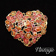 SOLD Vintage Monet heart brooch