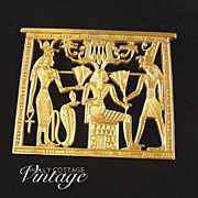 SOLD Vintage Ancient Egyptian Themed Brooch