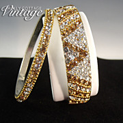 SOLD Vintage rhinestone bangle bracelet set