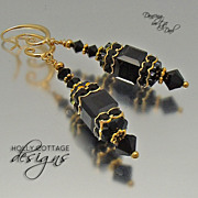 Artisan crafted Swarovski crystal earrings